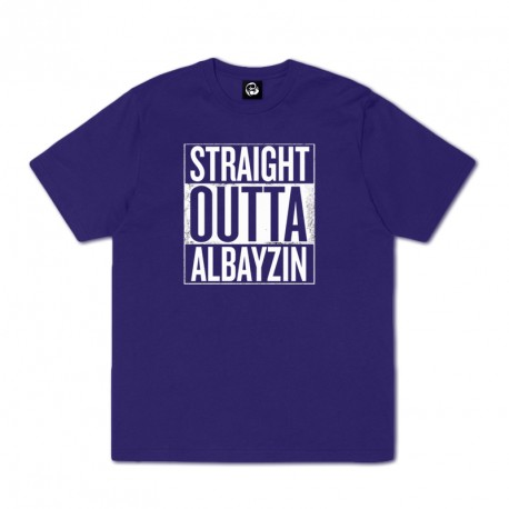 CAMISETA STRAIGHT OUTTA - MORADA